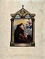 Saint Antony of Padua. Coloured stipple engraving. Wellcome V0031606.jpg