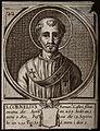 Saint Cornelius, Pope. Line engraving. Wellcome V0031897.jpg