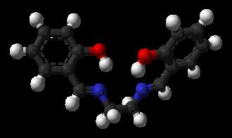 Salen ligand - Image: Salen 3D balls