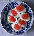 Salmon roe boiled egg dish.jpg