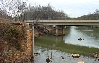Saluda River - The Saluda River at Pelzer, South Carolina
