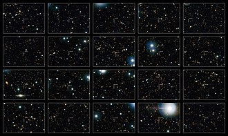 Cosmic Evolution Survey - Image: Sample of non star forming galaxies from the COSMOS survey