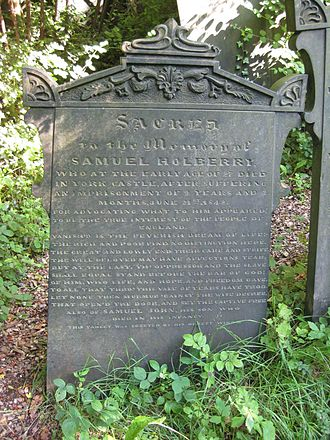 Samuel Holberry - The grave of Holberry in Sheffield General Cemetery.