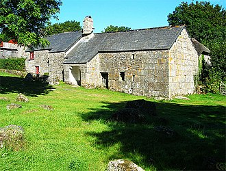 Dartmoor longhouse - Image: Sanders Lettaford geograph.org.uk 974343