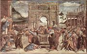 The Punishment of Korah by Sandro Botticelli.
