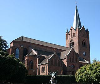 Slagelse City in Denmark