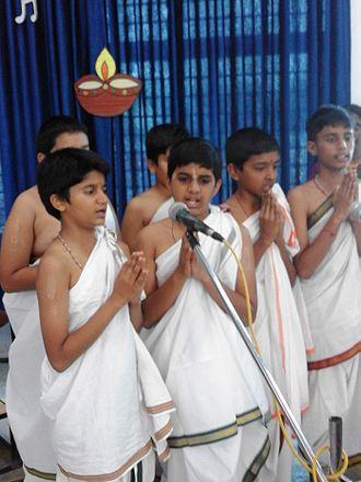 Sanskrit - Sanskrit festival at Pramati Hillview Academy, Mysore, India.