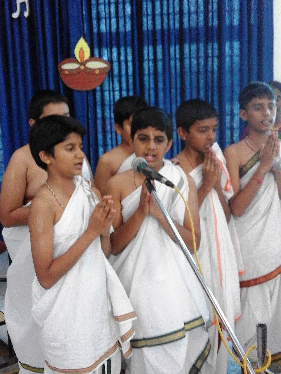 Sanskrit festival at Pramati School, Mysore