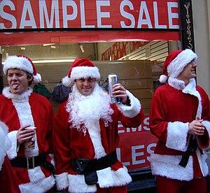 SantaCon - Revelers in New York City in 2008