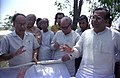 Saroj Ghose And Prasanta Chatterjee Discussing About Science City Project - Meeting Between CMC And NCSM Officers - Science City Site - Dhapa - Calcutta 1993-04-22 0563.JPG