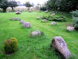 Sarsen - Sarsens in  a garden in Wiltshire