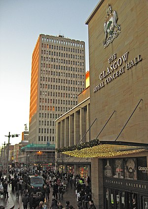 Glasgow Royal Concert Hall - Image: Sauchiehall Street, Glasgow geograph.org.uk 2186899