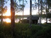 """A lakeside smoke sauna (""""savusauna"""") in Kannonkoski"""