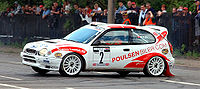 Toyota i rallysvängen.