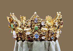 Reliquary Crown of Henry II - The so-called crown of Henry II at the Treasury of Munich Residenz