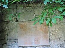 Gedenktafel auf dem Friedhof Schulpforte (Quelle: Wikimedia)