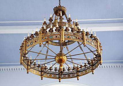 Schwörstadt: Chandelier in Catholic Church