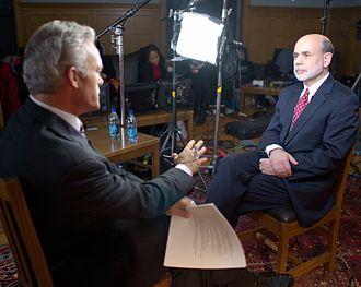 Scott Pelley - Scott Pelley interviewing Federal Reserve Chairman Ben Bernanke