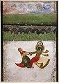Scuola di deogarh, krishna e radha che danzano, xviii secolo.jpg