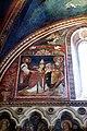 Scuola romana, affreschi del sancta sanctorum, 1280 ca., Niccolò III dona la chiesa ai ss. pietro e paolo 01.jpg