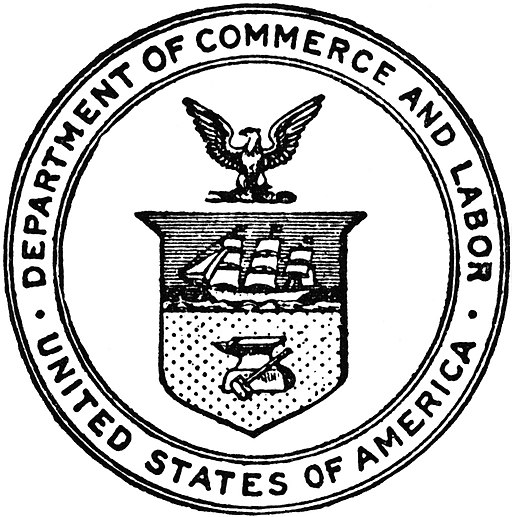Seal US Department Commerce and Labor