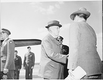 John J. McCloy - Secretary of War Henry Stimson greets his assistant John McCloy at RAF Gatow.