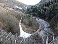 Segonzano, loc Paludi - Strada ghiacciata e rio Regnana.jpg