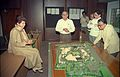 Selja Inspecting Science City Model - Science City Site Office - Calcutta 1994-02-17 176.JPG