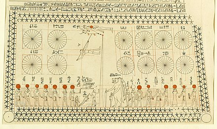 Ancient Egyptian astronomy is evident in monuments like the ceiling of Senemut's tomb from the Eighteenth Dynasty of Egypt. Senenmut-Grab.JPG
