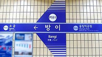 Bangi station - Station sign