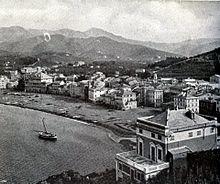 Panorama del litorale all'inizio del XX secolo