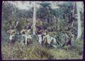 Seven warriors in jungle, two dragging dead (?) body LCCN2004707884.tif