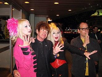 Rodney Bingenheimer - Severa Miles, Rodney Bingenheimer, Giddle Partridge and Dan Kapelovitz in 2010.