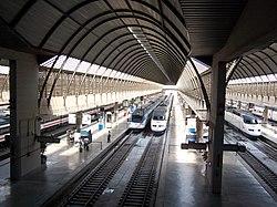 La Estación de Santa Justa se convirtió en el punto de partida de la Alta Velocidad Española.