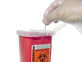 Needlestick injury Accidental puncture of skin causing contamination