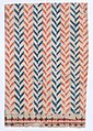 Sheet with overall orange and blue geometric pattern Met DP886452.jpg