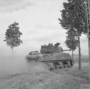 8th Armoured Brigade (United Kingdom) - Sherman VC Firefly of 24th Lancers near Saint-Léger, 11 June 1944