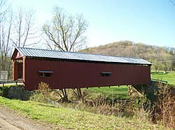 The Shinn Covered Bridge, northeast of Bartlett