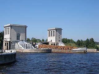 Nizhny Novgorod Hydroelectric Station dam in Russia