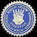 Siegelmarke Direction- Städtisches Rudolph Virchow Krankenhaus Berlin W0309656.jpg