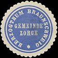 Siegelmarke Gemeinde Zorge H. Braunschweig W0387829.jpg