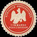 Siegelmarke K. Pr. Commando der 5ten Division W0285628.jpg
