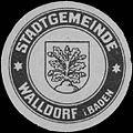 Siegelmarke Stadtgemeinde Walldorf in Baden W0386657.jpg