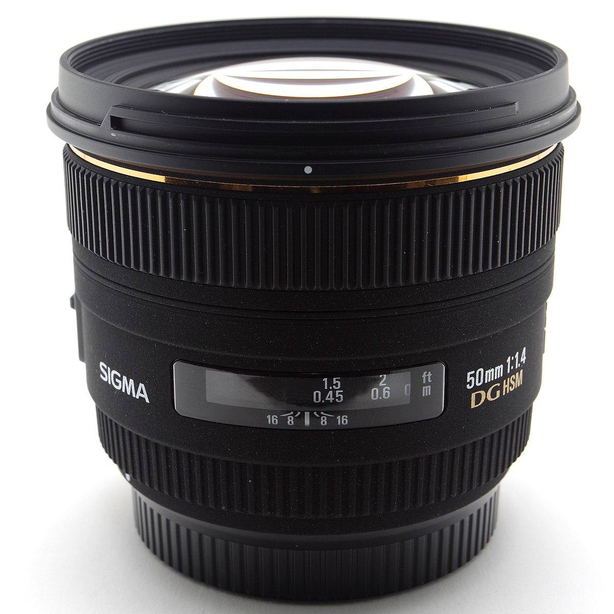 Sigma 50mm F 14 Ex Dg Hsm Lens Wikipedia 24mm 28 Art For Canon Ef