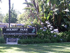 Sign of Holmby Park, Holmby Hills, Los Angeles, California..JPG