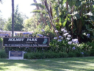 Holmby Park - Image: Sign of Holmby Park, Holmby Hills, Los Angeles, California
