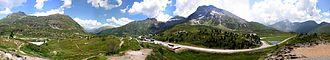 Simplon Pass - Image: Simplon Passhöhe Panorama