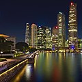 Singapore at night from the Singapore River.jpg