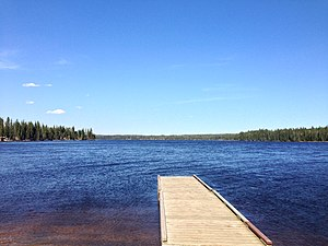Duck Mountain Provincial Park (Manitoba) - Singush Lake from Singush Lake Campground