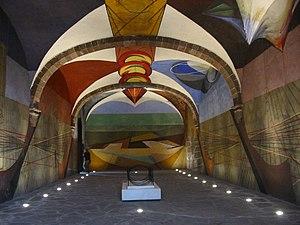 David Alfaro Siqueiros - Unfinished 1940s mural painted by David Alfaro Siqueiros, in Escuela de Bellas Artes, a cultural center in San Miguel de Allende, Gto.